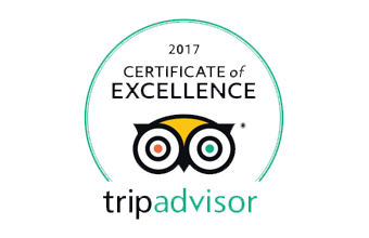 2017 Certification of Excellence Trip advisor badge