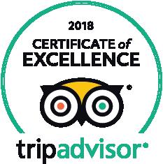 Trip Advisor 2018 Certificate of Exellence
