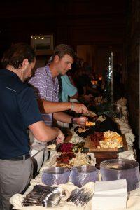 Men serving food